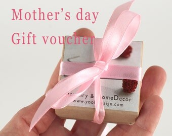 Mother's Day Gift Voucher - Customizable Mother's Day Gift certificate