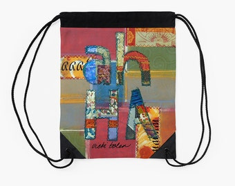 Drawstring Backpack,Cinch Sack,Carry All Bag,Market Bag,Festival Bag,Boho Bag,Holiday Gifts for Students,Going off to College Gifts
