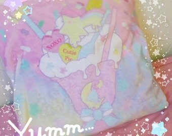 Melty Sweets pillow case, Kawaii Pillow, Kawaii Pillow Case, Pastel Pillow, Fairy Kei Pillow