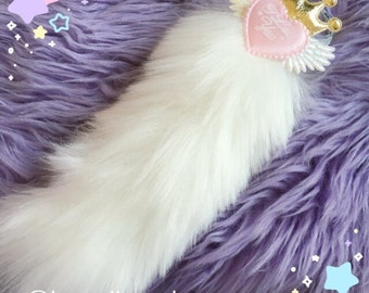 Angelic I love you Royal Kitten Tail, Kitten Tail, Fuzzy Tail