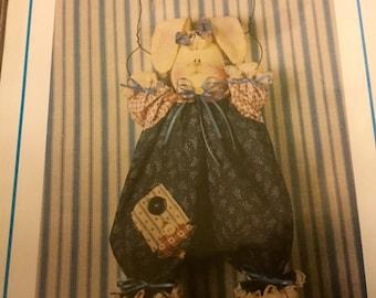 Hanging Bunny Doll Pattern  Uncut Vintage Easter Bunny