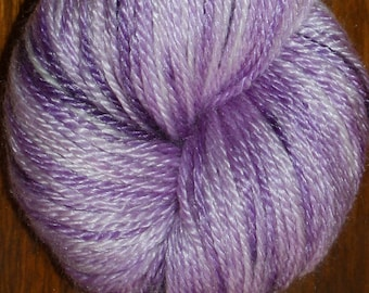 Hand Dyed, Multi-tonal, Lavender, Purple, Merino/Tencel Sport Wt Yarn - FAIRY DUST