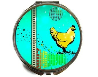 Disco Chicken Compact Mirror Pocket Mirror Large