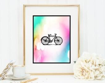 Bike Instant Digital Download DIY Print yourself bicycle
