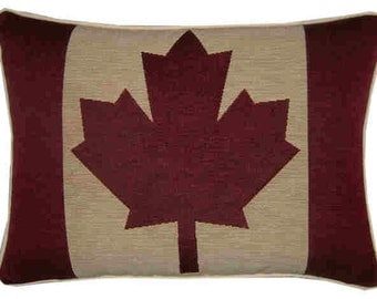 Canada Canadian Flag Woven Tapestry Cushion Pillow Cover
