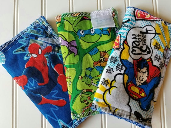 Kids-Wash-Cloth-Superheros-Baby-Wipes-Meal-Time-Clean-Up-Art-Time-Wiping-Boards-New-Parent-Baby-Accessories-Shower-Baby-Toddler-Gift-Set