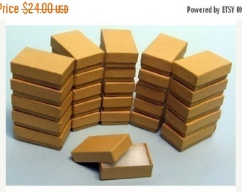 Valentines Day Sale 100 Pack of 3.25X2.25X1 Inch Size Kraft Paper Cotton Filled Jewelry Presentation Boxes