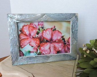 Framed Brilliant Floral Photo Rosee Art