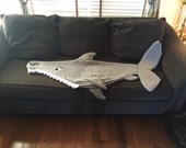 Shark Attack! Lap Blanket Knitting Pattern -- PDF 420 -- INSTANT DOWNLOAD