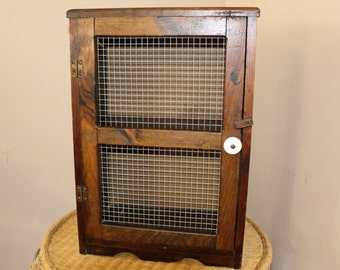 Antique Pie Safe Cabinet