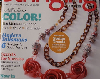 NEW Stringing Magazine All About Color Modern Talismans Secrets for Success Spring Trends Spring 2016 Issue