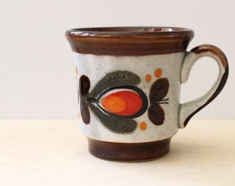 Schramberg Bernau German hand painted Majolica cup.