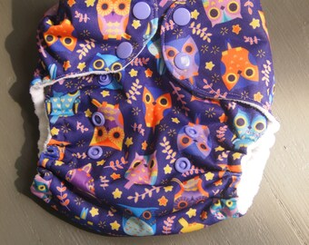 Owl Pocket One Size Diaper