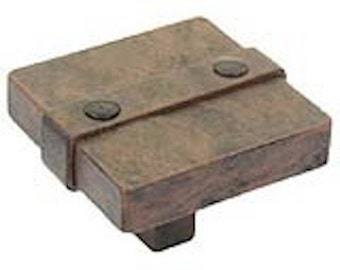 "Avante 65177RI 1 1/2"" Ironcraft Square Cabinet Drawer Knob Pull Rusted Iron"