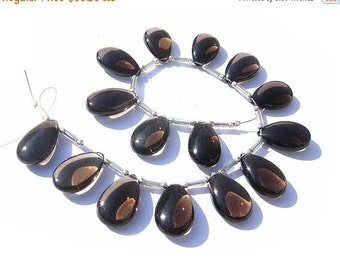 55% OFF SALE 8 Inches Genuine AAA Smoky Quartz Smooth Pear Briolettes Size 19x12mm 15 Pieces 7 Matched Pair and a Focal Pendant