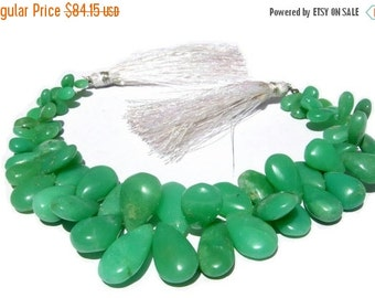 55% OFF SALE 1/2 Strand Genuine Chrysoprase Smooth Pear Briolettes Size 8x6 - 19x10mm approx