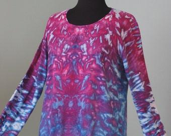 tie dyer, xl long sleeve, inkblot ice dye, tye dye by grateful dan dyes, festival clothing, anvil 399