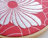 hand embroidered hoop art - freeform stitching on cotton fabric in 5 inch hoop by bo betsy - free shipping
