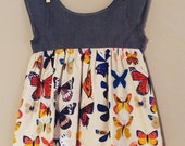 shortees butterfly exhibit top : girls tulip back tunic - available in infant and big girl sizes