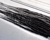 Custom Black and Silver SE or DE Synthetic Dreads - Dreadlock Accent Kit Choose Your Quantity!