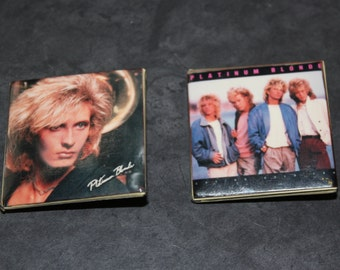 SALE - Two Vintage 1980s New Wave Rock Band Platinum Blonde Pins