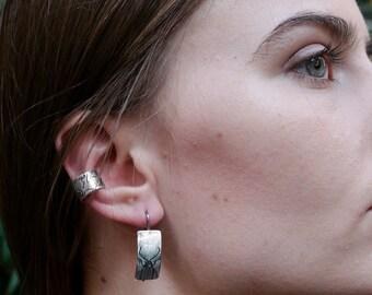 Handmade Sterling Silver Beetle Earrings, Beetle Jewelry, Insect Jewelry, Entomology Jewelry