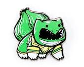 Green Ranger bulbasaur Pokeyranger hat pin