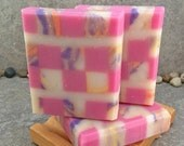 Mosaic Coconut Milk Soap Scented in Bamboo Pomegrante