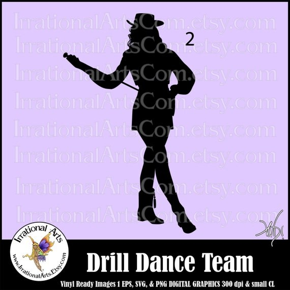 drill dance team silhouettes pose 2 1 eps amp svg vinyl ready