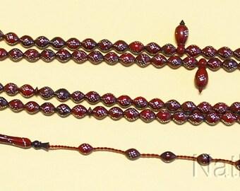 Islamic Prayer Beads Gebetskette Chapelet 99 Kuka Fine Sterling Studding