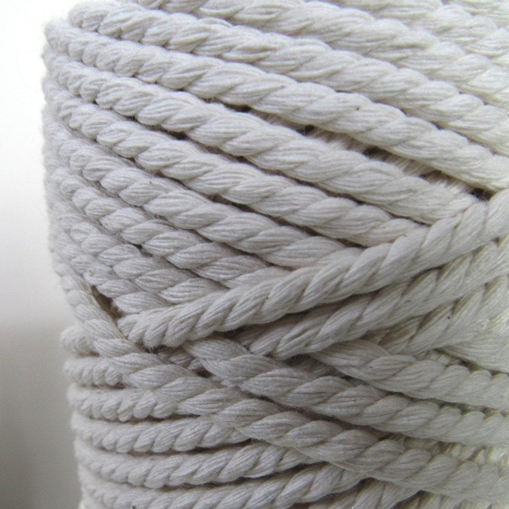 3m thick unbleached white rope cord from overspill on etsy