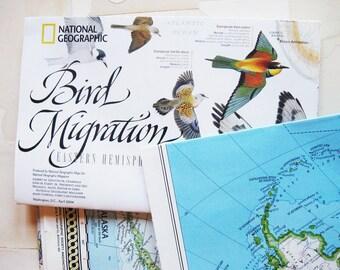 four vintage maps