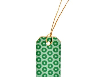 Festive Green Tags {10} Large Gift Labels | Modern Christmas Holiday Tags | Scrapbooking | DIY Housewarming Birthday