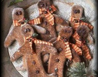 Primitive Grungy Gingerbread Boys ~ E-Pattern Delivery