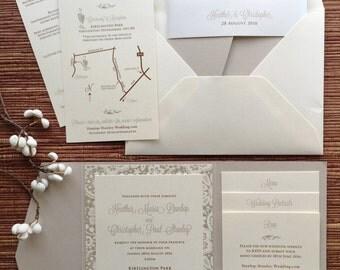 Custom Graphic Design for Pocket Folder Wedding Invitations / Digital DIY Printable PDFs