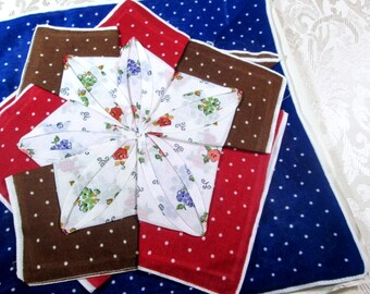 Vintage Handkerchief Set Lot of 12 Matching Mint Hankies NOS Unused w Gift Box