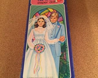 Vintage Whitman Bride and Groom Paper Doll Set