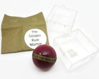Vintage Samsonite Golden Rule Marble - Red Acrylic