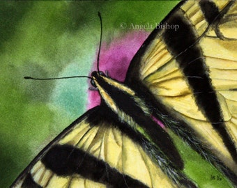 Butterfly Painting Print, Abstract, Butterfly, Color, Realism, 5 x 7, Home Decor, Watercolor, Giclee, Art Print, Insect, Nature