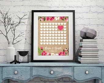 Guest poster heart DIN A2