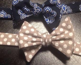 Freestyle Bow Tie, Men's Bow Tie, Causal Bow Tie, Freestyle Bow Tie, Self-tying bow tie, grooms attire, groomsmen gift, dearestgrace