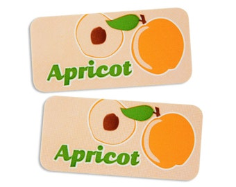 Apricot Bakery Labels - stickers for packaging cookies, cake, treats, and baked goods