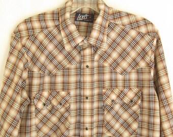 Vintage  Levis Western Shirt. Men's