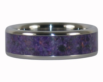 Purple Stone Titanium Ring with Sugilite