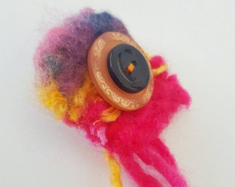 SALE - Felt Burst Brooch with buttons