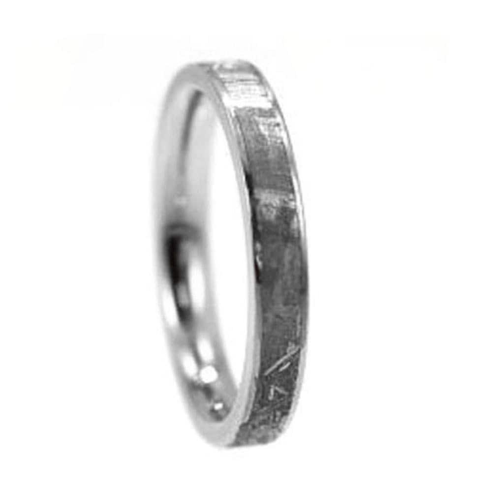 Womens meteorite ring in titanium womens wedding by for Titanium womens wedding ring