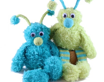 NEW Vikram the Velutinous Monster Knitting Pattern Pdf INSTANT DOWNLOAD