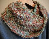 Hand Knit Spiral Wool Cowl