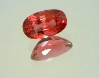 Red Rubellite Tourmaline Precision Faceted 7.3x4.3mm Oval VVS Clarity .75 carat