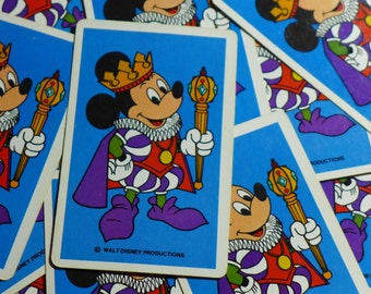 Vintage Mickey Mouse Disney King Playing Cards